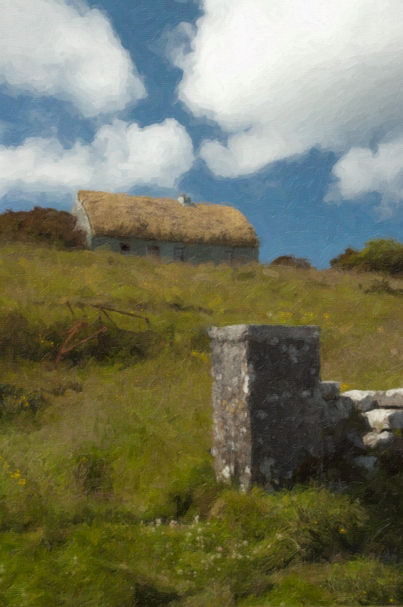 Irish cottage, edited and processed with SnapArt's Oil Paint filter