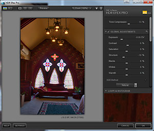 Screen shot of HDR Efex Pro