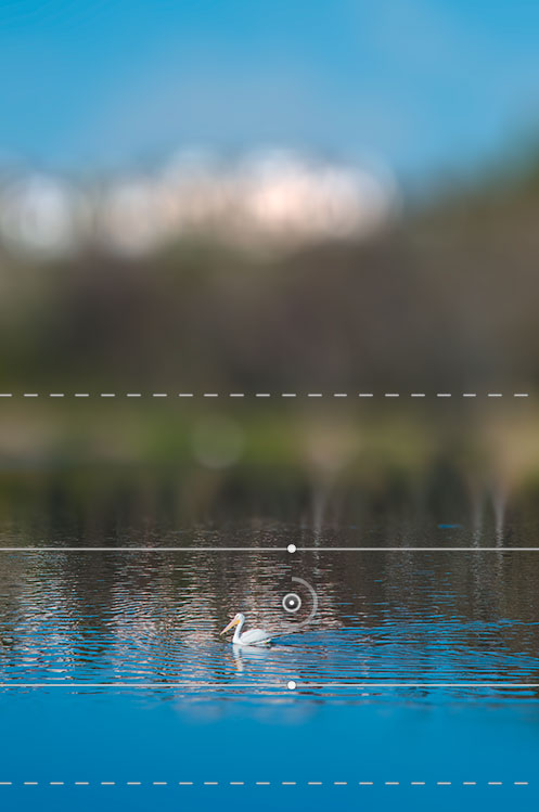 Photoshop CS6 Beta Tilt-shift blur effect with bokeh