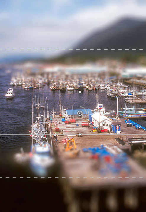 Photoshop CS6 Beta Tilt-shift blur effect