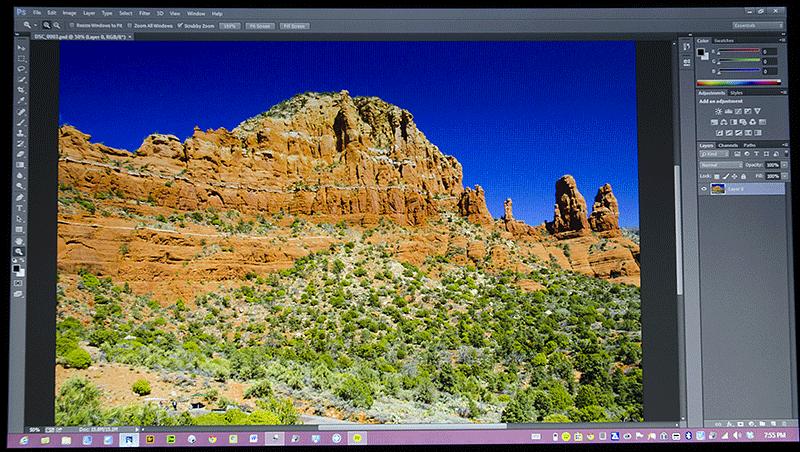 Sony VAIO Ultrabook running Photoshop