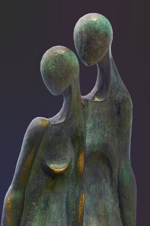 Photo of bronze sculptures processed with Nik Software