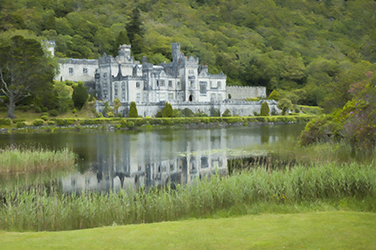 Kylemore Abbey painting