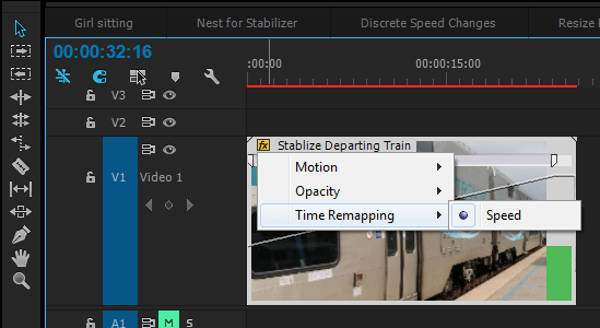 Premiere Pro Enable Time Remapping