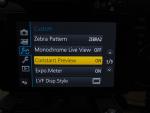 Lumix GH4 WYSIWIG Mode
