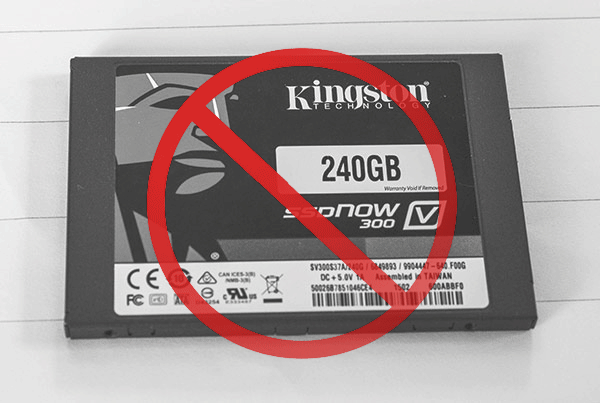Failed Kingston SSD