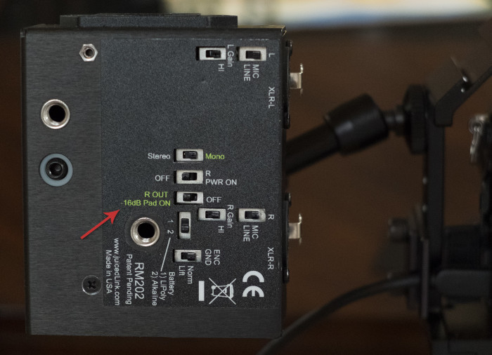 audio padding with juicedLink preamp