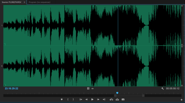 Clipped Audio Waveform