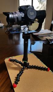 Pilotfly H1+ Stabilizer on Gorillapod