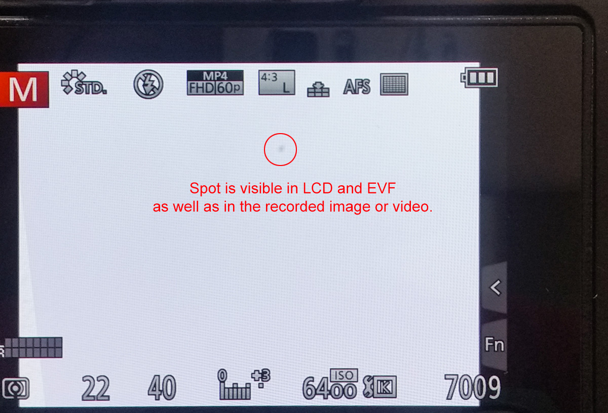 Problem with Panasonic Lumix GH4 camera