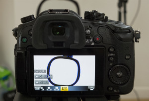 Switched to the GH4's Kelvin mode in its white balance feature