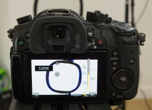 Setting a color temperature in the GH4's Kelvin white balance mode